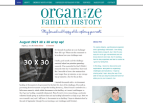 organizeyourfamilyhistory.com