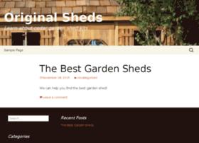 originalsheds.com
