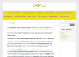 ormus-water.com