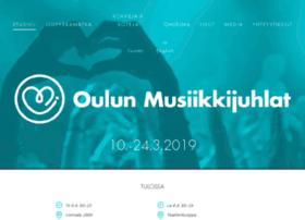oulunmusiikkijuhlat.fi