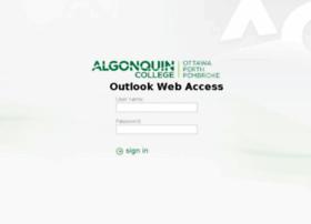 owa.algonquincollege.com