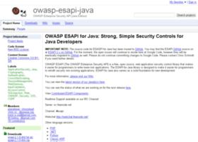 owasp-esapi-java.googlecode.com