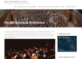 pacificbaroqueorchestra.com