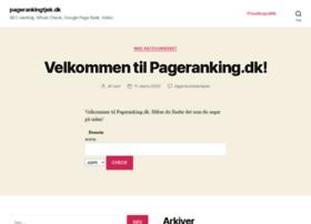 pagerankingtjek.dk