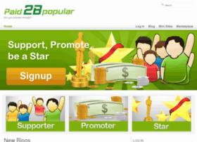 paid2bpopular.com