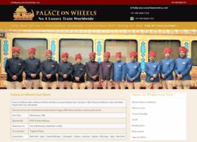 palaceonwheelsindia.com