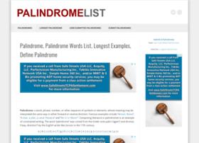 palindromelist.net