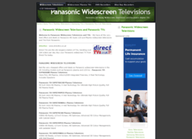 panasonictvs.widescreentelevisions.co.uk