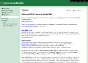 paperlessdebate.wikispaces.com