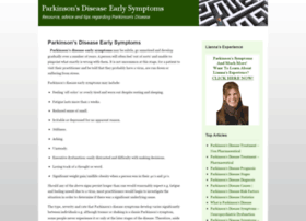 parkinsonsdiseaseearlysymptoms.com