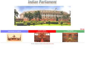 parliamentofindia.nic.in