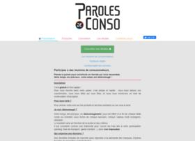 parolesdeconso.com