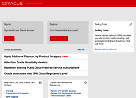 partnerstore.oracle.com