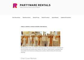 partywarerentals.com
