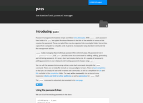 passwordstore.org