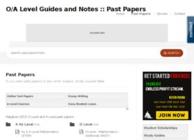 pastpapers.o-alevel.com
