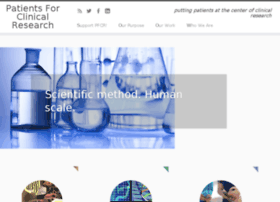 patientsforclinicalresearch.org