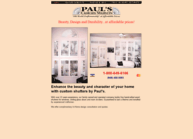 paulscustomshutters.com