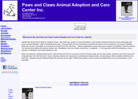 pawsandclawsanimals.rescuegroups.org