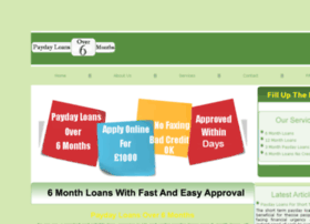 paydayloansover6months.co.uk