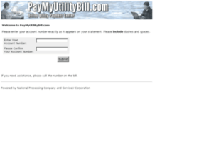paymyutilitybill.com