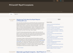 pccare247ripoffcomplaintsreviewscams.wordpress.com