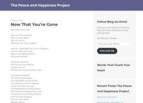 peaceandhappinessproject.com