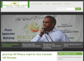 peaceforlifefoundation.com
