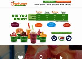 peachwaveyogurt.com