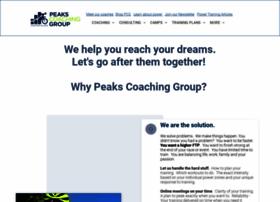 peakscoachinggroup.com