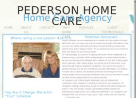 pedersonhomecare.com