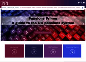 pensionspolicyinstitute.org.uk
