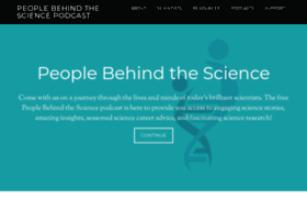 peoplebehindthescience.com