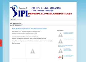 pepsiipl6live.blogspot.in