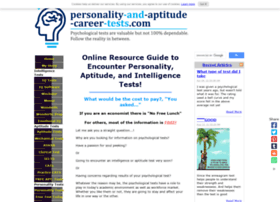 personality-and-aptitude-career-tests.com