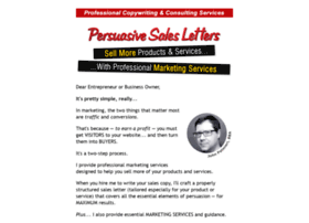 persuasive sales letter examples websites and posts on