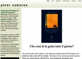 peter-cameron.com