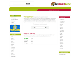 petnamezone.com