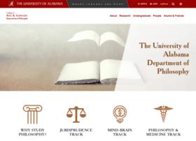 philosophy.ua.edu