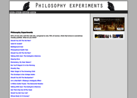 philosophyexperiments.com
