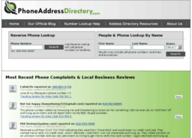 phoneaddressdirectory.com