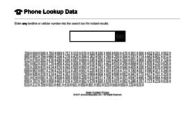 phonelookupdata.com