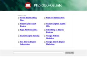 php-dug-gs.info