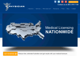 physicianlicensing.com