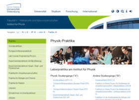 physikpraktika.uni-oldenburg.de