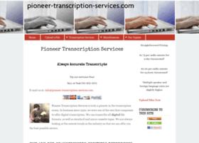 pioneer-transcription-services.com