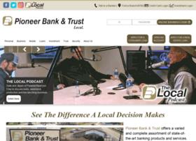 pioneerbankandtrust.com