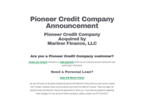 pioneercredit.net