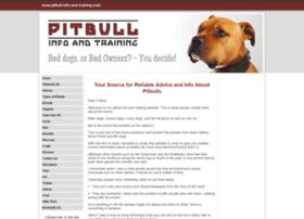 pitbull-info-and-training.com