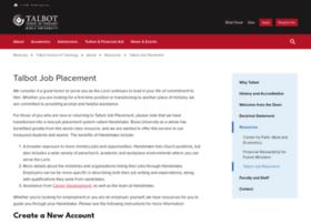 placement.talbot.edu